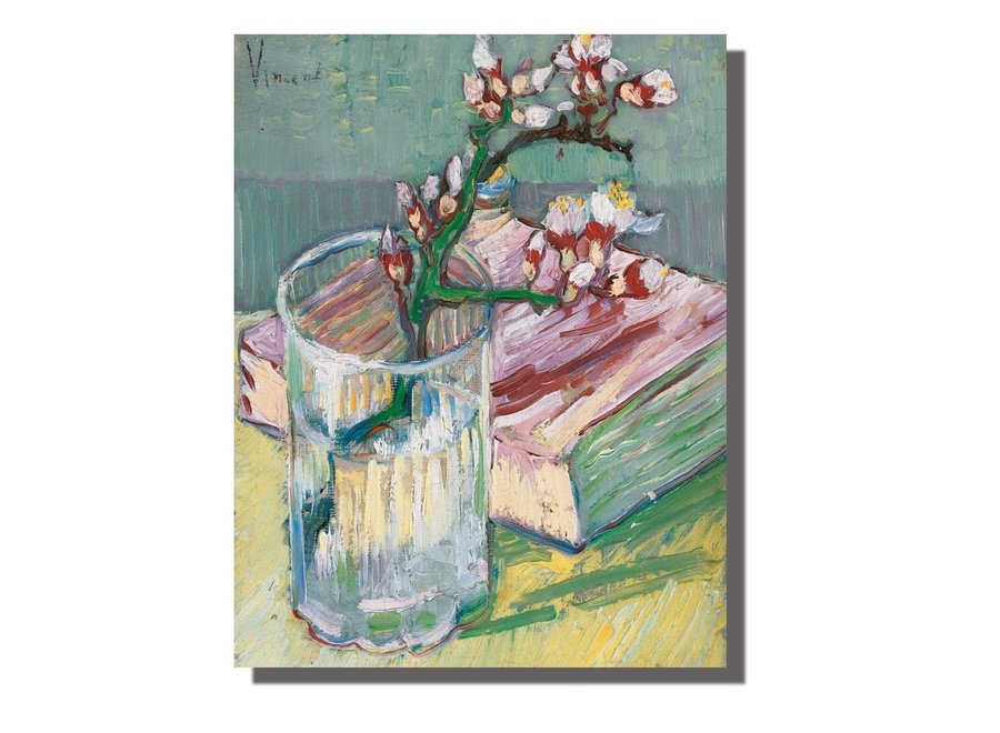 Fine Asianliving Wall Art Canvas Print 70x90cm Blossoms van Gogh Hand Embellished Giclee Handmade