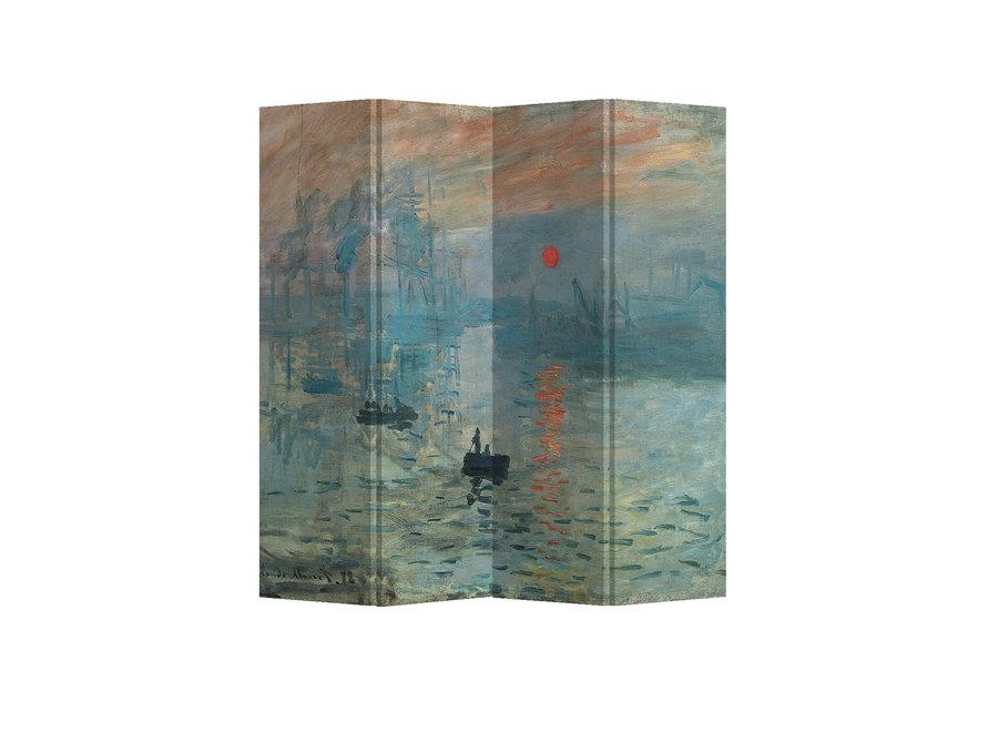 Paravent Raumteiler B160xH180cm 4-teilig Claude Monet Sonnenaufgang