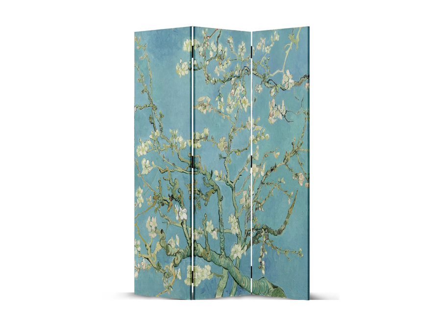 Paravent Raumteiler B120xH180cm 3-teilig Van Gogh Mandelblüten