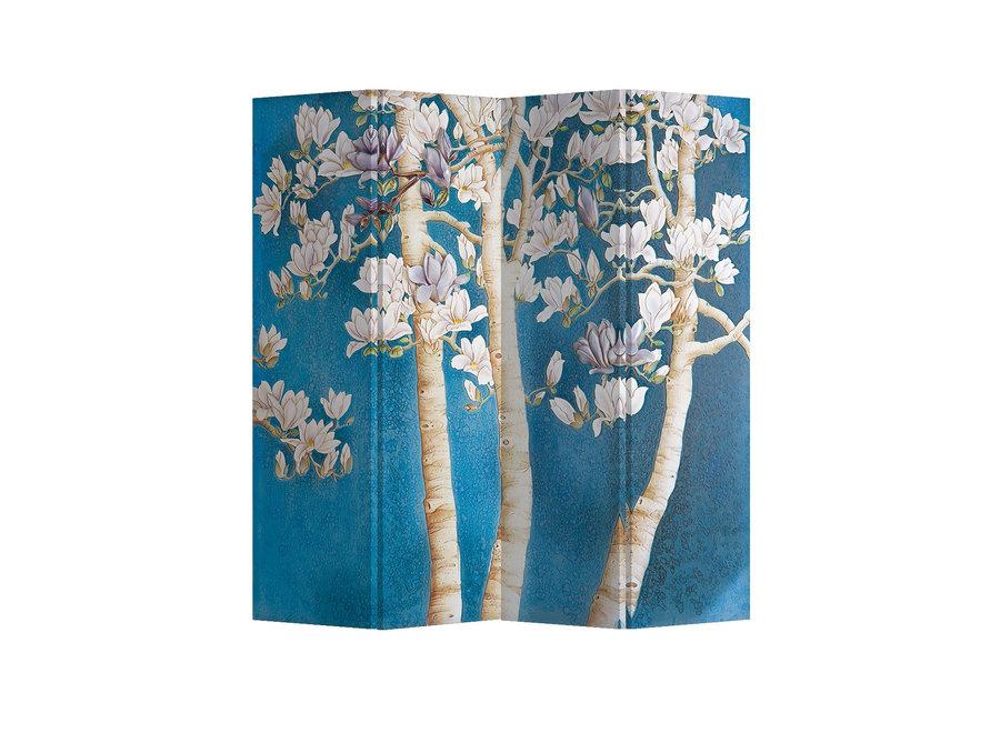 Fine Asianliving Raumteiler Paravent Sichtschutz Trennwand Blossom Trees L160xH180cm