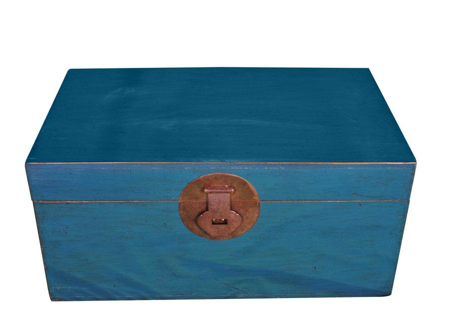 Antike Chinesische Truhe Blau B95xT56xH44cm