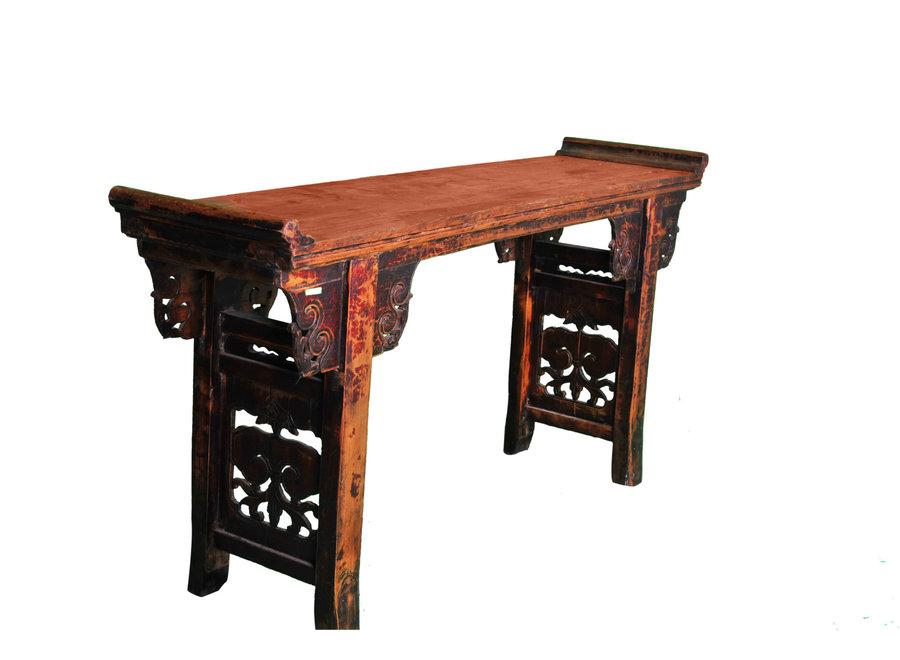 Antiker Chinesischer Altartisch Konsolentisch Handgeschnitzt B182xT46xH96cm