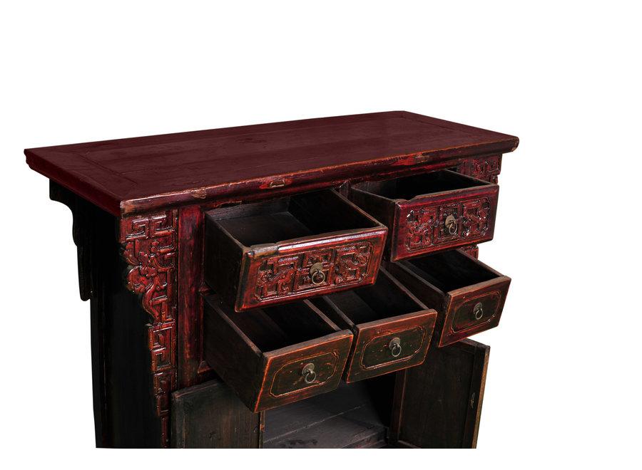 Fine Asianliving Antiker Chinesischer Schrank B113xT42xH86cm