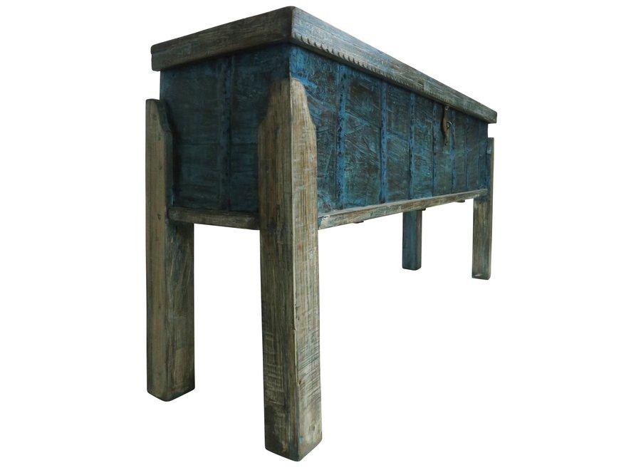 Fine Asianliving Indischer Konsolentisch mit Lagerplatz Holz Handgefertigt in Indien B158xT42xH80cm