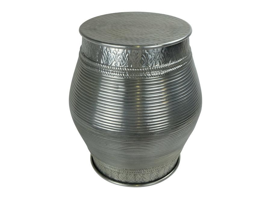 Fine Asianliving Indischer Couchtisch Metall Handgefertigt in Indien 30x30x47cm
