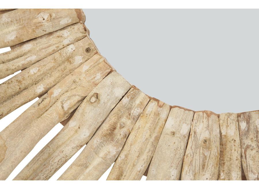 Fine Asianliving Wandspiegel Dekospiegel Rund Massivholz Lianen Branchen D100cm
