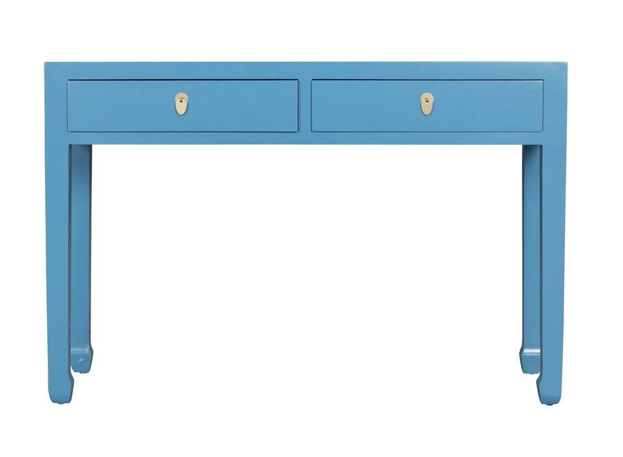 Fine Asianliving Chinesischer Konsolentisch Beistelltisch Himmelblau - Orientique Sammlung B120xT35xH80cm