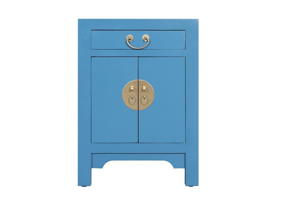 Chinesischer Nachttisch Nachtschrank Himmelblau - Orientique Sammlung B42xT35xH60cm