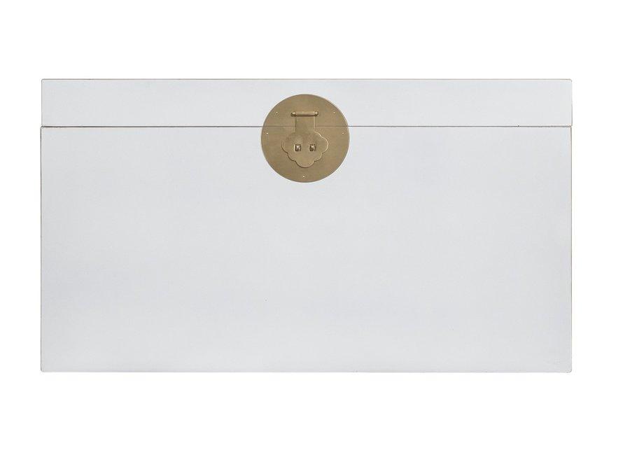 Fine Asianliving Chinesische Truhe Schneeweiß - Orientique Sammlung B90xT45xH50cm