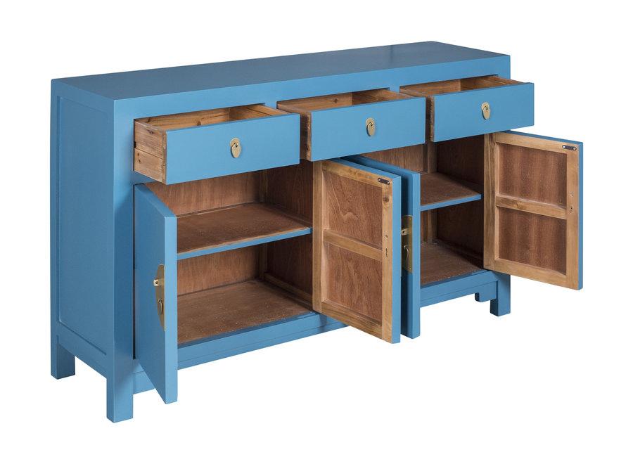 Fine Asianliving Chinesisches Sideboard Kommode Himmelblau - Orientique Sammlung B140xT35xH85cm