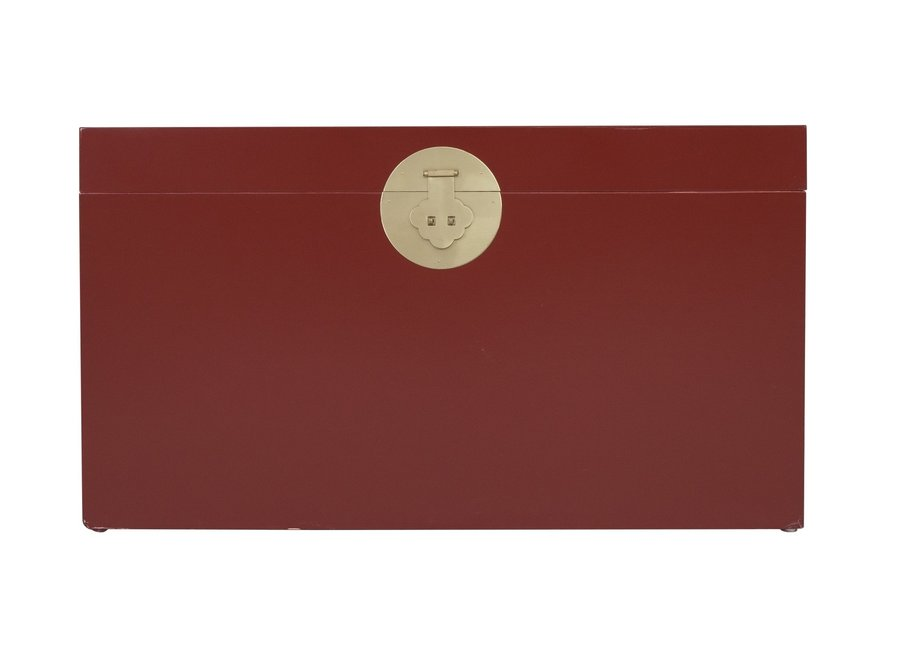 Fine Asianliving Chinese Trunk Ruby Red - Orientique Collection L90xW45xH50cm