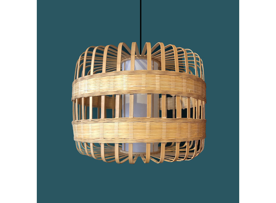 Fine Asianliving Pendelleuchte Hängelampe Bambus Handgefertigt - Belinda