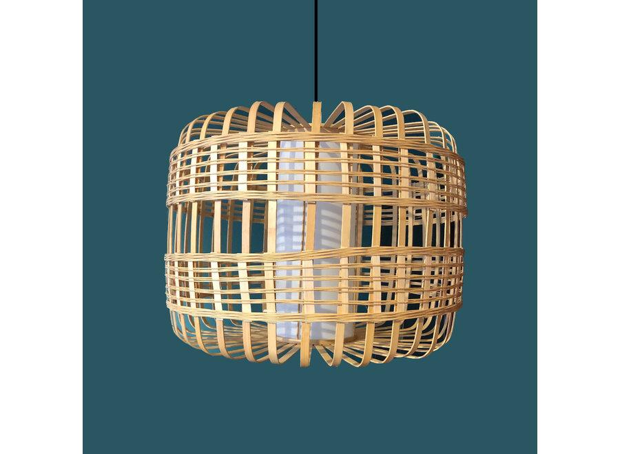 Fine Asianliving Pendelleuchte Hängelampe Bambus Handgefertigt - Bretagne