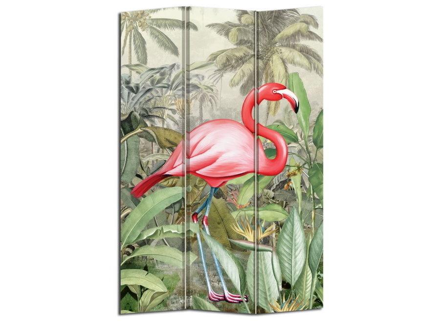 Fine Asianliving Paravent Raumteiler B120xH180cm 3-teilig Flamingo