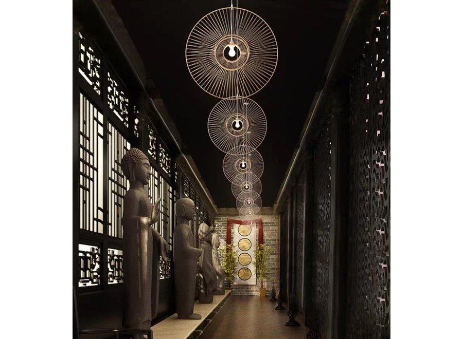 Fine Asianliving Pendelleuchte Hängelampe Bambus Handgefertigt - Gracious D60cm