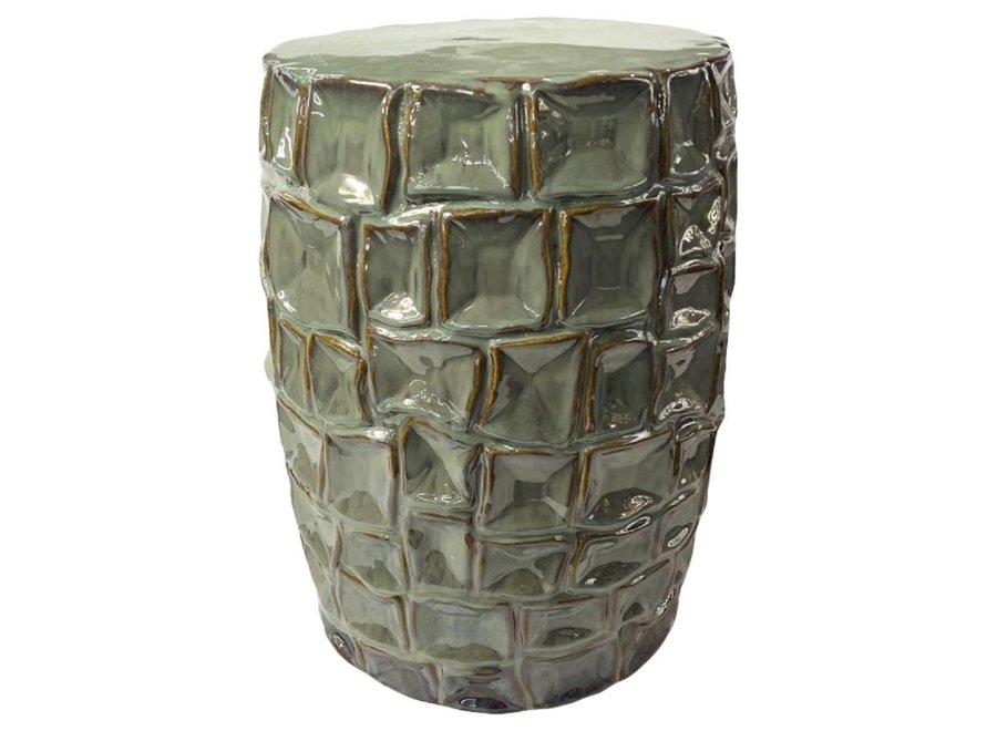 Fine Asianliving Keramikhocker Gartenhocker Chinesisch Porzellan D33xH46cm