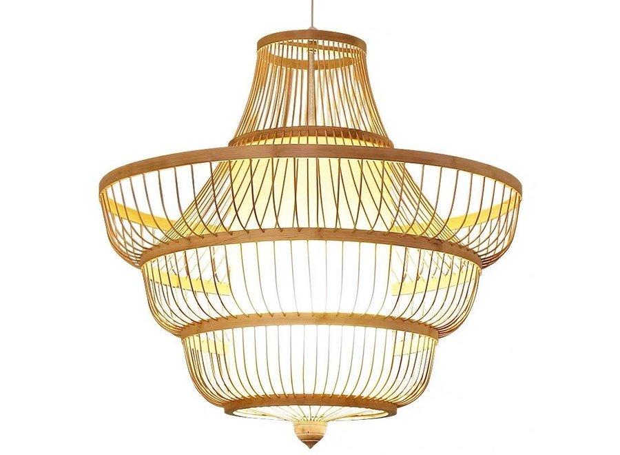 Deckenleuchte Pendelleuchte Beleuchtung Bambus Lampenschirm Handgefertigt - Jayla