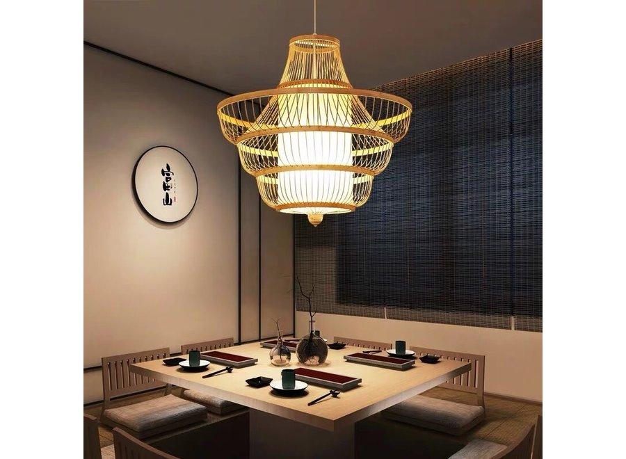 Fine Asianliving Deckenleuchte Pendelleuchte Beleuchtung Bambus Lampenschirm Handgefertigt - Jayla