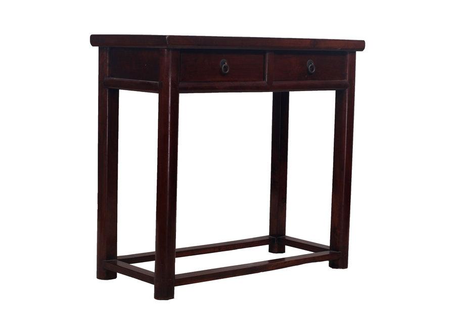 Fine Asianliving Antike Chinesischer Beistelltisch mit 2 Schubladen - Zhejiang, China