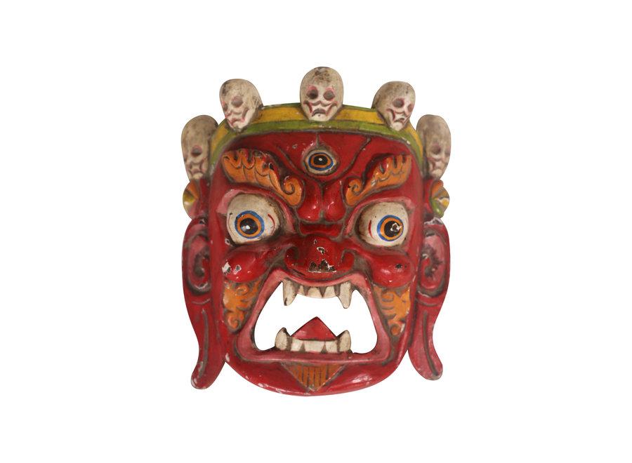 Antique Tibetan Mask Red