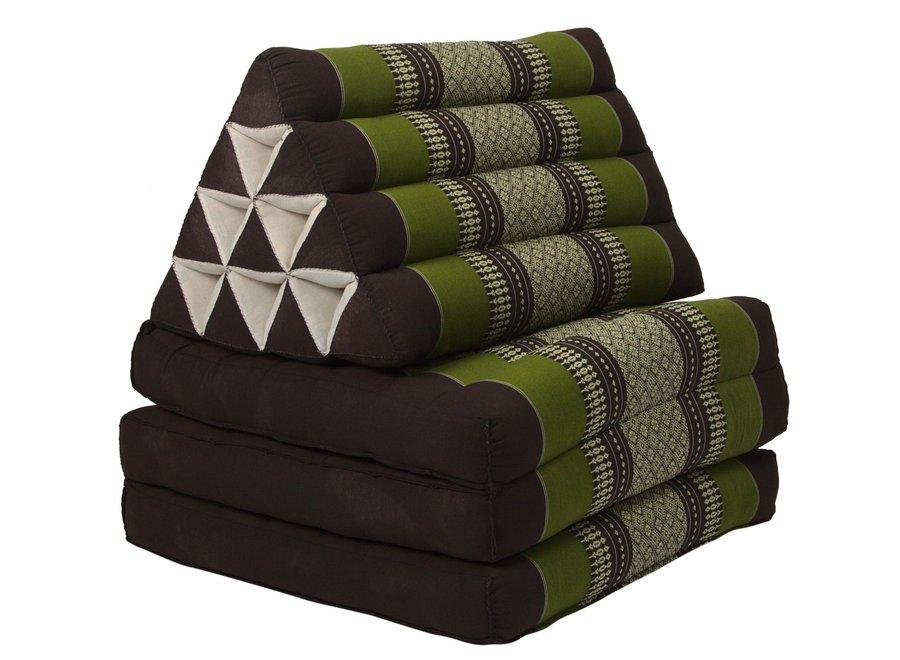 Thaikissen Dreieckskissen 3 Auflagen Kapokfüllung Grün