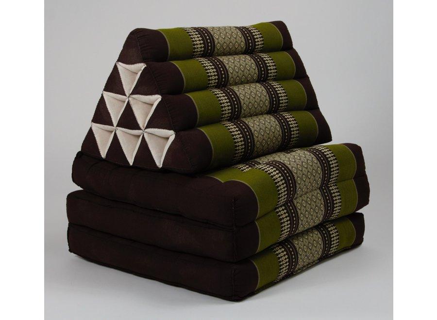 Fine Asianliving Thaikissen Dreieckskissen 3 Auflagen Kapokfüllung Grün
