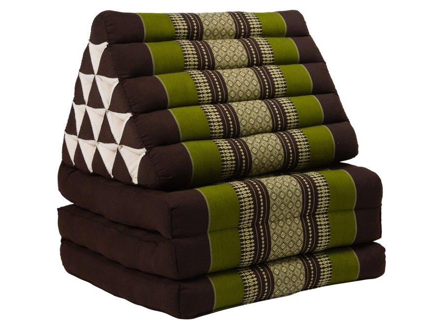Fine Asianliving Thaikissen Dreieckskissen 3 Auflagen Kapokfüllung XL Grün