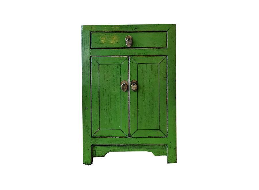 Fine Asianliving Chinesischer Nachttisch Nachtschrank Grün B40xT32xH60cm