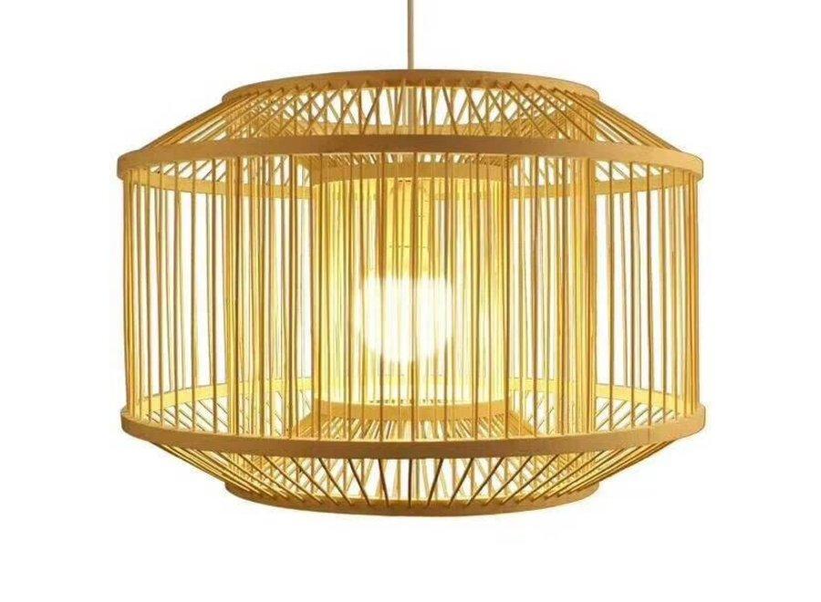 Fine Asianliving Deckenleuchte Pendelleuchte Beleuchtung Bambus Lampenschirm Handgefertigt - Carina