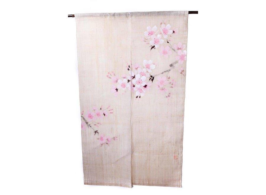 Japanse Noren Sakura Handbeschilderd 85x150cm