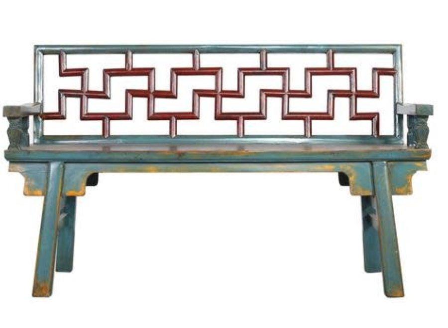 Chinesische Sitzbank Mehrfarbig