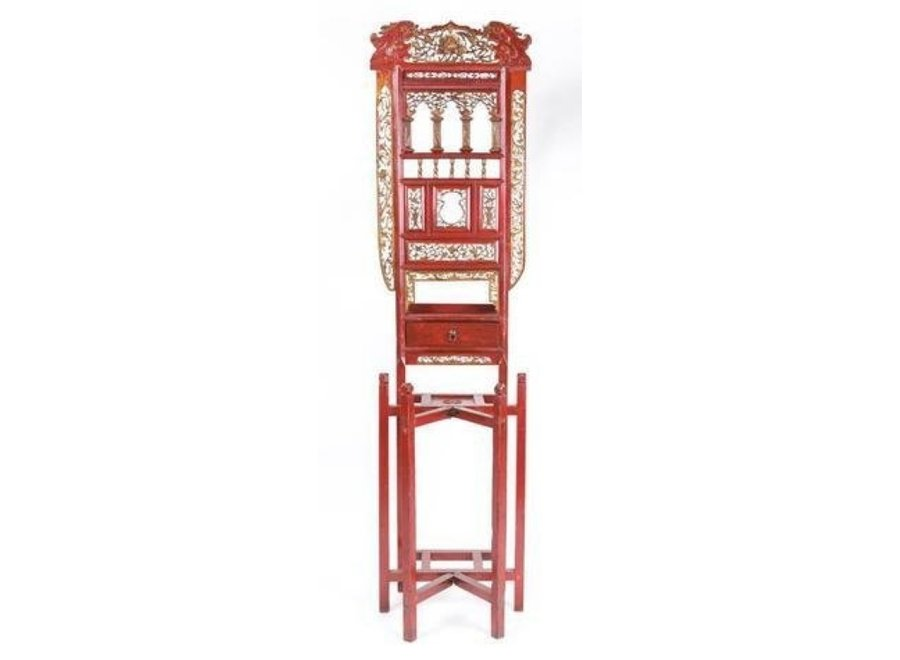 Fine Asianliving Antique Chinese Red Table for Washbasin