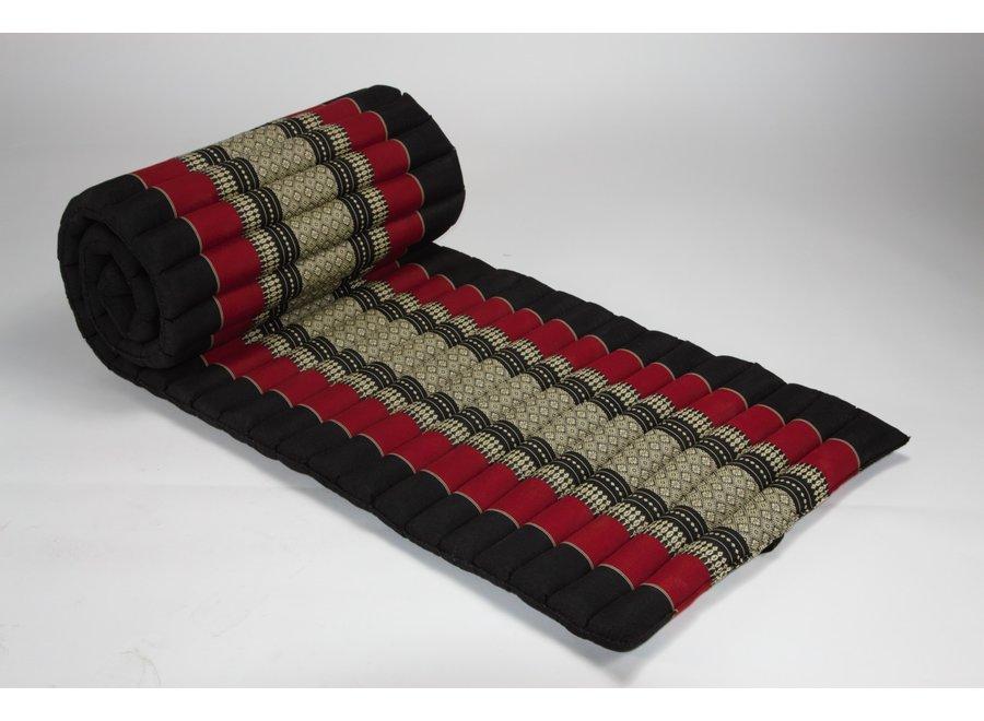 Thai Rollmatte Rollmatratze aus Kapok 80x200cm Rot
