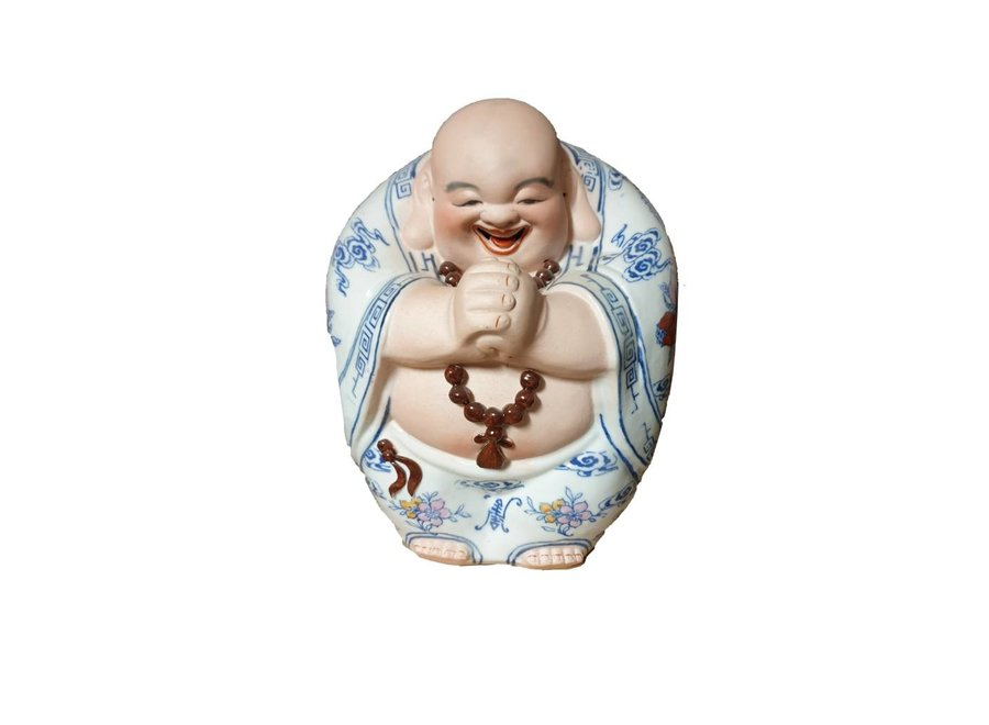Fine Asianliving Chinesische Lachender Buddha Porzellan Handgemachte  Skulptur Statuen Glück Keramik