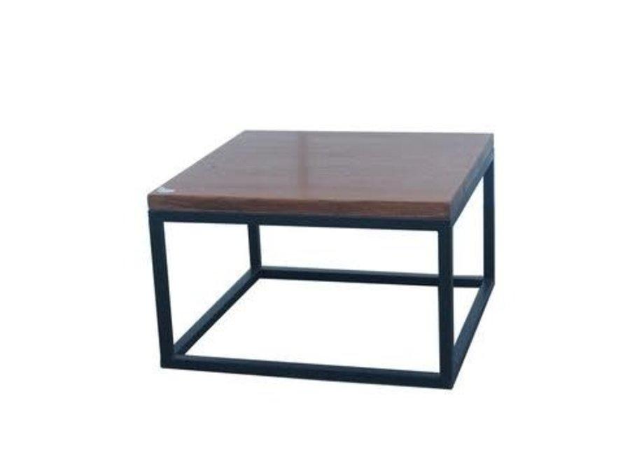 Chinesischer Couchtisch Modern Holz und Stahl B65xT65xH40cm