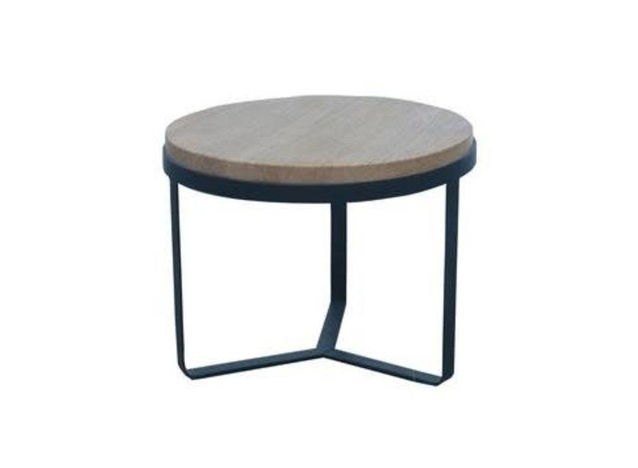 Coffee Table Round Wood Steel