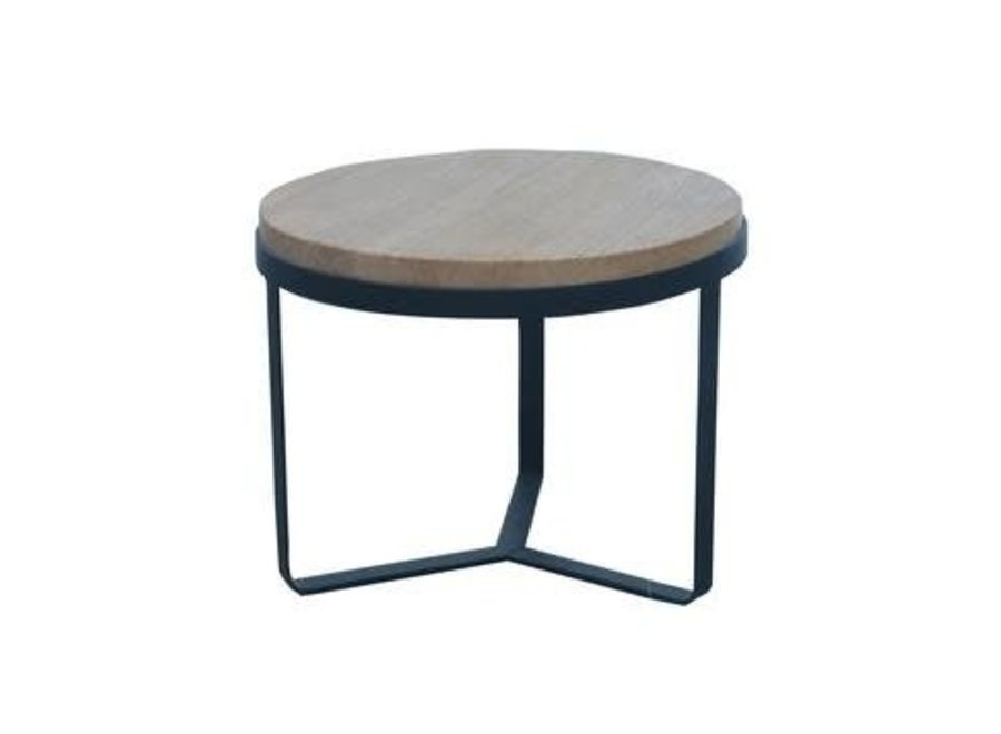 Fine Asianliving Coffee Table Round Wood Steel
