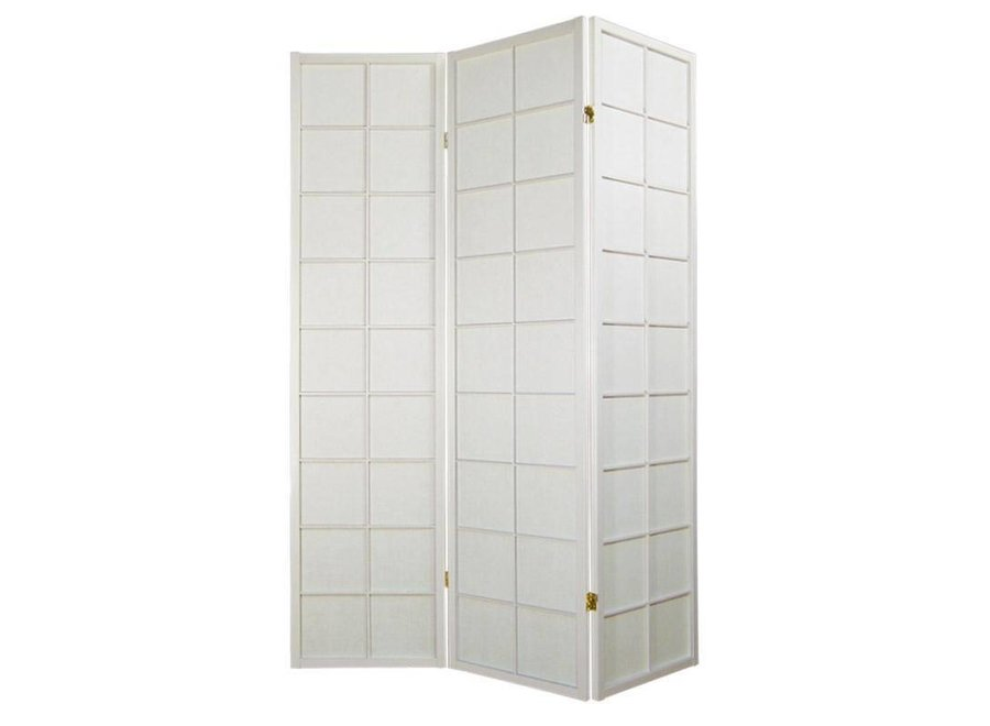 Fine Asianliving Japanese Room Divider 3 Panels W135xH180cm Privacy Screen Shoji Rice-paper White