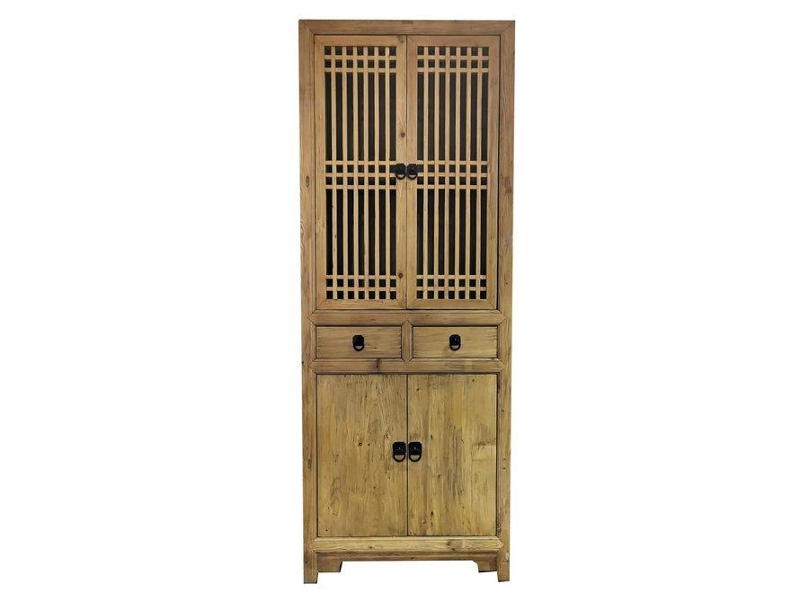 Chinesisches Bücherregal Natur Yu Holz B80xT38xH218cm