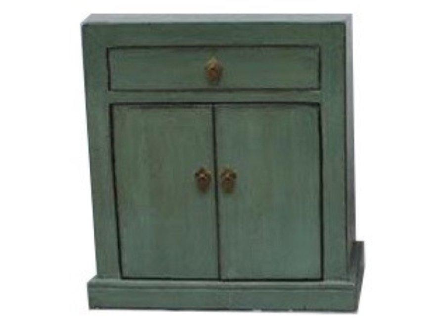Antiker Chinesischer Schrank Mint Grün B62xT37xH70cm