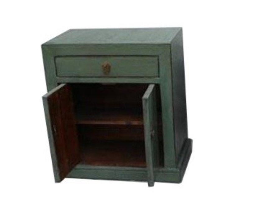 Fine Asianliving Antiker Chinesischer Schrank Mint Grün B62xT37xH70cm