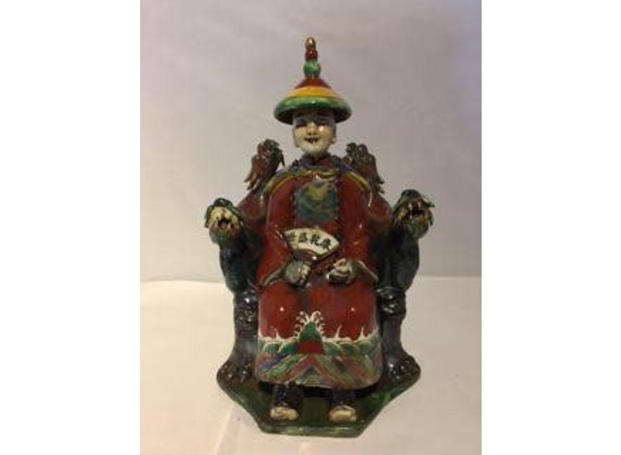 Chinese Emperor Dragon Handmade Porcelain Red