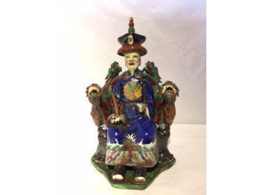 Chinese Emperor Dragon Handmade Porcelain Blue