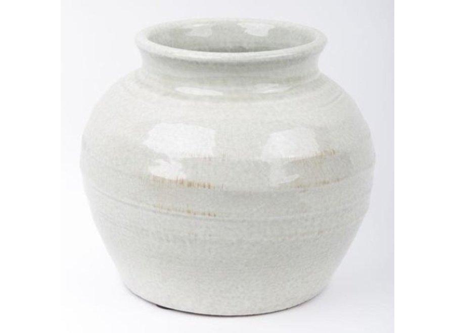 Chinesische Vase Porzellan Keramik Steingrau