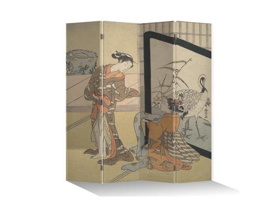 Paravent Raumteiler B160xH180cm 4-teilig Japanische Frauen