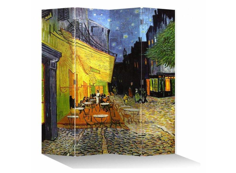 Paravent Raumteiler B160xH180cm 4-teilig Van Gogh Terrasse bei Nacht