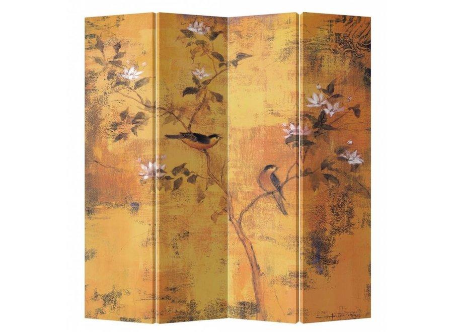 Paravent Raumteiler B160xH180cm 4-teilig Vintage Blüten