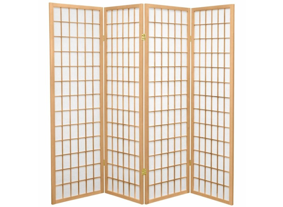 Fine Asianliving Japanese Room Divider Shoji W180xH180cm Privacy Screen Rice-paper Natural - Tana