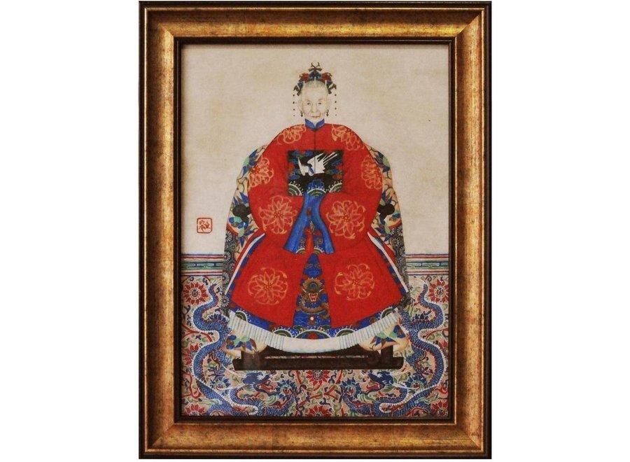 Chinese Ancestor Portrait Painting W36xH48cm Glicee Handmade