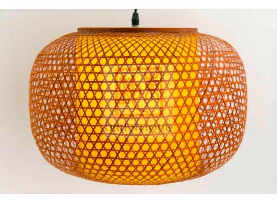 Fine Asianliving Japanische Bambus Webbing Lampe - Shiroi - D42xH30cm